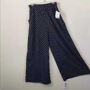 NWT Sheer Polka Dot Wide Leg ZARA Pants